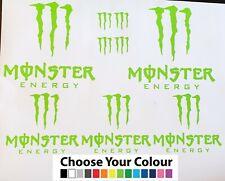 9x Monster Energy Vinyl Stickers,decal,graphic car mx boat Jdm motorbike drift