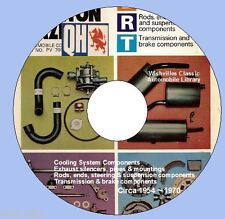 Quinton Hazell Parts Catalogue  DVD-ROM circa 1954 ~ 1970