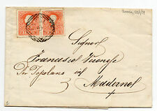 ANTICHI STATI 1859 LOMBARDO VENETO5 SOLDI 2 VALORI CENEDA 22/1 D/6490