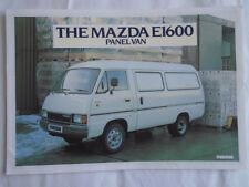 Mazda E1600 Panel Van brochure Mar 1982