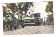 Large ElectricTram at Coombe Lane Wimbledon South Merton used 1908