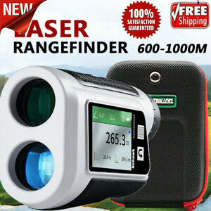 600M Golf Range Finder Outdoor Camping Telescope w/ Flag Lock LCD Display Screen
