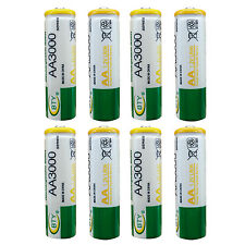 8 pcs AA LR06 3000mAh 1.2V Rechargeable NI-MH battery CELL RC Toy BTY Green