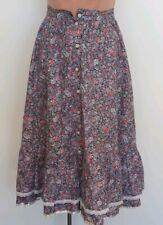 Gunne Sax Purple Floral Skirt Xs 4/6 Vintage Prairie Hippe Vgc
