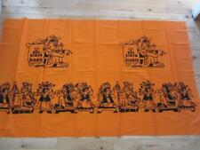 "FABRIC PANEL 68"" X 39""  CM PLAYA BLANCA ORANGE AND BLACK NATIVES"