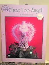 Cotton Thread Crochet PATTERN White Christmas Tree Top Angel Topper with Beads