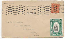 1921 Great Britain Cover to Texas with 7th Philatelic Congress Stamp Affixed