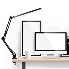 Adjustable Metal LED Clamp Clip-on Lamp Swing Long Arm Work Desk Lamp Reading