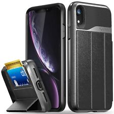 Vena [vCommute] for iPhone XR Leather Wallet Card Slot Dual Layer Stand Case