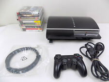 Ps3 Playstation 3 Console ( CECHL02 ) 80 Gb Bundle + Controller  + 10x Games