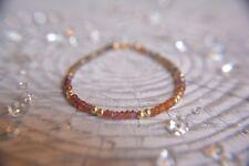 Gorgeous 14K Gold Filled Tunduru Sapphire with Golden Beads Gemstone Bracelet