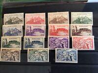 Fezzan & Ghadames - Libya french military admin stamps 1946 MH