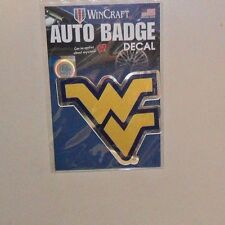 WVU WEST VIRGINIA MOUNTAINEERS AUTO BADGE CAR DECAL EMBLEM 3X5 FREE SHIPPING