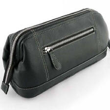 Sonnenschein Mens Toiletry Leather Bag Large Shaving Travel Wash Bag Made in Ger