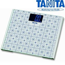 TANITA grande piattaforma in vetro digitale 200Kg 440lb Bagno Corpo Pesatura scala 403
