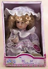 """Christina Collection 6"""" Porcelain Doll Blond Hair With Blue Eyes and Eyelashes"""