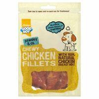 Good Boy Pawsley Dog Puppy CHEWY CHICKEN FILLETS Breast Meaty Treats Chews 80gm