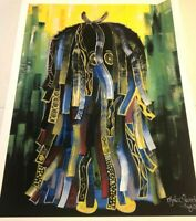 FRANCIS NJOKU, IJELE, AFRICAN AMERICAN ABSTRACT ART PRINTS, UNFRAMED AND SIGNED