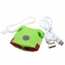 Bike USB Charging Tail Rear  Back Light Green 4 Modes 4 Red  LED Flash Saddle