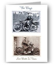 SUNBEAM & BSA Moto VINTAGE BIGLIETTO D'AUGURI-MOTO