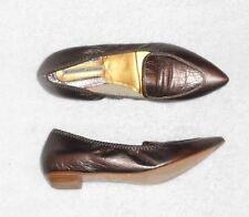 ACCESSOIRE DIFFUSION escarpins cuir métallisé taupe P 38 ½ TBE