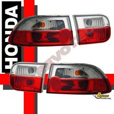 1992-1995 Honda Civic 2Dr Coupe 4Dr Sedan Red Euro Tail Lights Lamps RH + LH