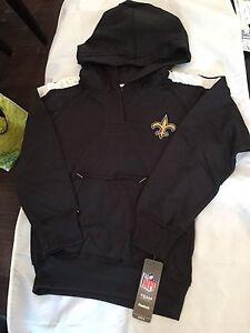 New Orleans Saints Youth Girls Reebok SMALL Sweatshirt . Hoodie NFL NEW NWT