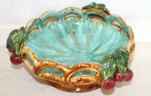 St Peter Graz of Austria Turquoise Ceramic Cherry bowl. Dia: 22 cm; Ht: 10 cm