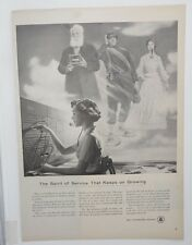 Original Print Ad 1956 BELL TELEPHONE System Vintage Operator Heroes