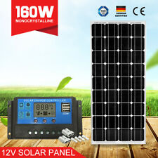 160W Solar Panel Kit Mono Cells 160Watt & 20A PWM Regulator & Anderson Plugs