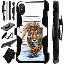 Lux-Guard For iPhone 6/7/8 PLUS/X/XR/XS Max Phone Case Cover WALKING LEOPARD