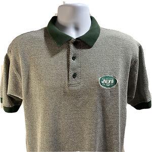 True Fan New York Jets Polo Men's Shirt Size Medium Short Sleeve