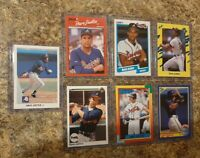 (7) David Justice 1990 Leaf Upper Donruss Fleer Topps Rookie card lot RC Braves