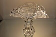 American Brilliant Period ABP Crystal Fan Vase Bowl