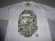 17289 bape xxv cities camo ape head white/green tee XL