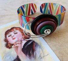 *Hand Crafted French Multicoloured Lucite Bangle