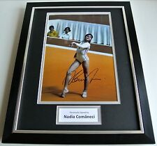 Nadia Comaneci SIGNED FRAMED Photo Autograph 16x12 display Olympic Gymnastics
