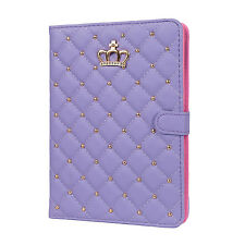 Origami Magnetic PU Leather Smart Cover Case for Apple iPad Mini Air 1 2 3 4 5 6 Purple iPad Air