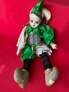 """Vintage Brinn's Collectable Musical Clown Doll 15"""""""