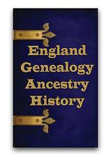 English Genealogy Ancestry 640 Rare Books on DVD England Heritage Family Tree B1