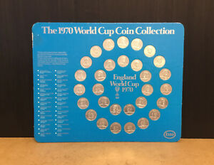 ESSO 1970 WORLD CUP COIN COLLECTION COMPLETE VGC