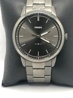 Fossil FS5459 Men's Stainless Steel Analog Gray Dial Quartz Genuine Watch HK500