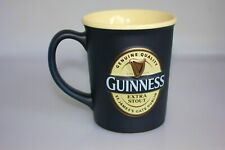 Guinness Extra Stout Embossed Large Black Coffee Tea/Mug Ceramic Cup 3D Logo
