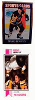 (2) Mario Lemieux Hockey Odd-Ball Trading Card Lot