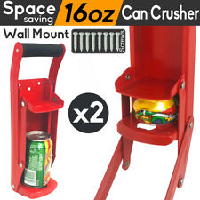 2x Can Crusher Bottle Opener Aluminium Recycling Cans Kitchenware Soda Beer 16oz