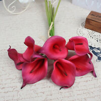 Artificial Real Touch Calla Lily Flower DIY Bouquet Wedding Party Home Decor
