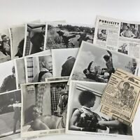 Vintage Press Photos Movie Stills Pressbook Bamboo God And Iron Men 1974 Kung Fu