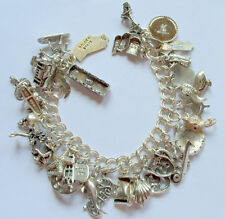 Vintage Sterling California and Vintage Charm Bracelet 77 g & 30 Charms