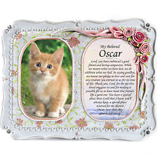 Cat Memorial Double Photo Frame-In Loving Memory,  RIP, Plaque, Gift Frame,