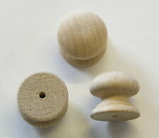 Pack of 10 small Drilled Wooden Knobs Handles 18mm Dia. A18BVKD